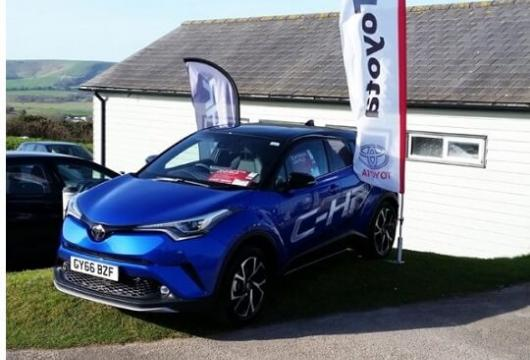 SLM Toyota Uckfield display the Toyota C-HR at Lewes Golf Club
